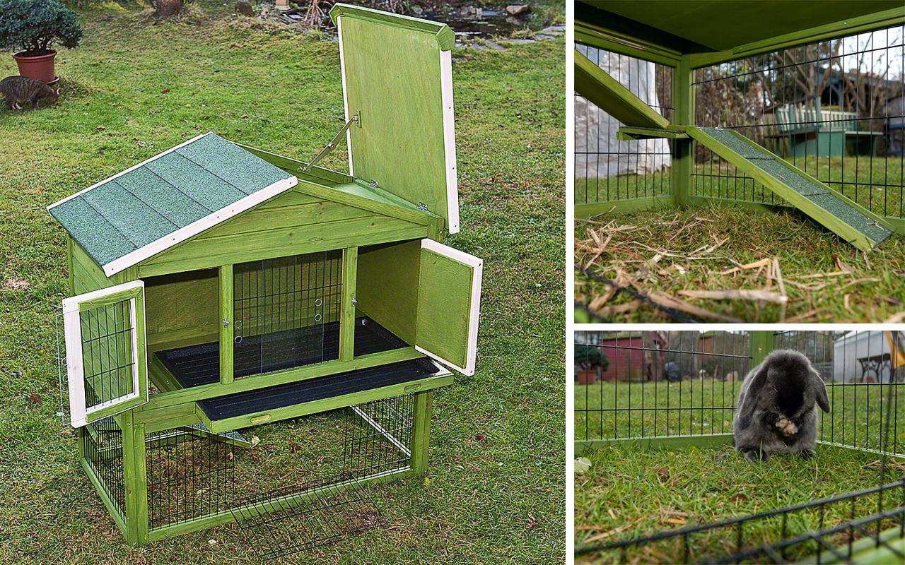Il coniglio in giardino guida alla progettazione - Casetta per conigli ...