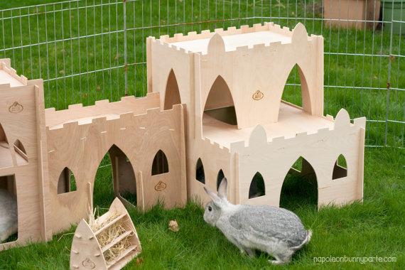 Casette per conigli e roditori in cartone e legno for Casette per conigli fai da te