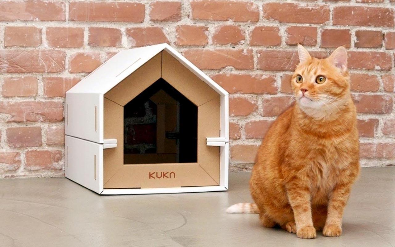 Cucce in cartone per gatti quando l 39 essenzialit la - Cuccia per gatti ikea ...