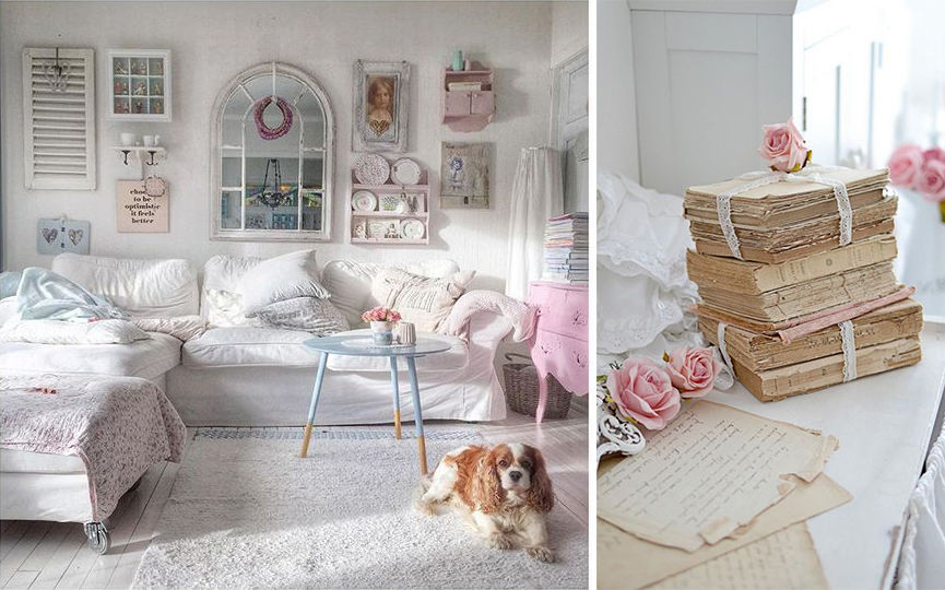 Ispirazioni di pet design stile shabby chic per cani e for Shabby chic dog
