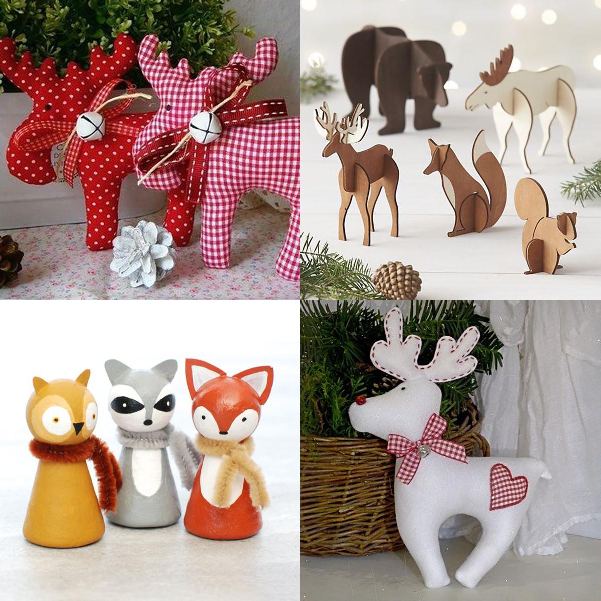 Ispirazioni natalizie: decorazioni a forma di animale